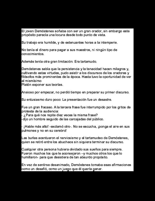 Doc La Historia De Demóstenes Gerardo Zurita Guzman