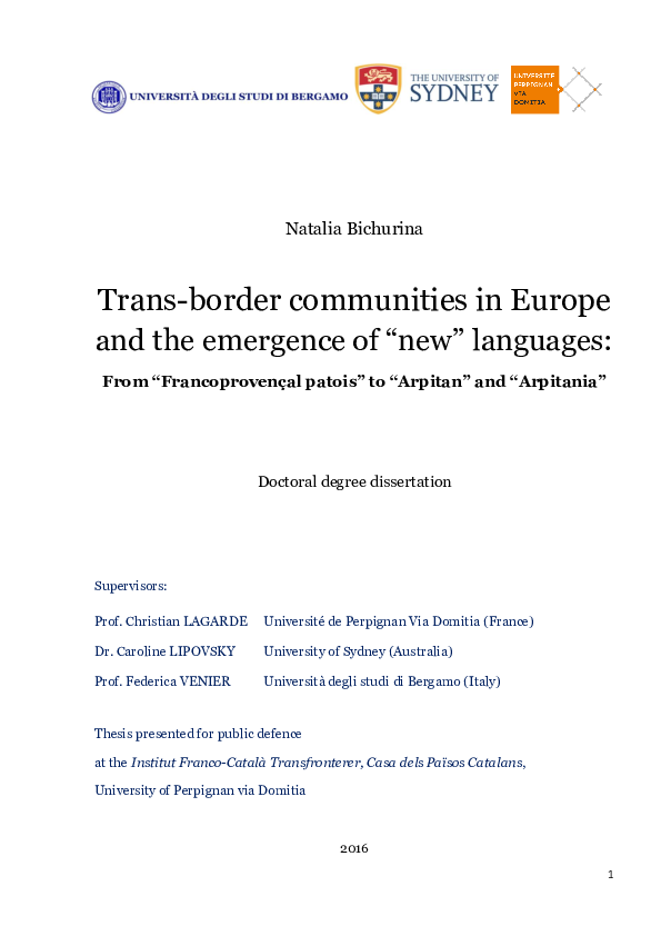 foto de PDF) Trans-border communities in Europe and the emergence of