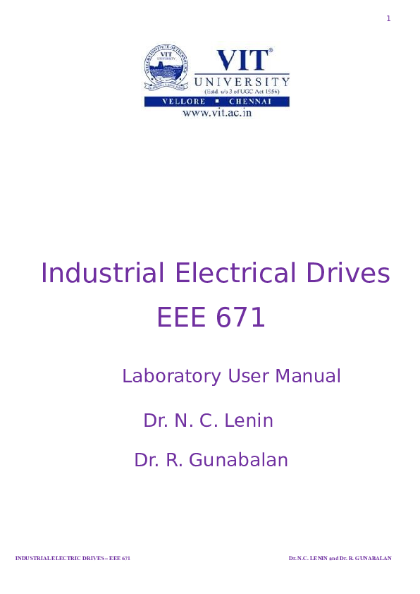 DOC) MTECH Advanced Electrical lab Manual EEE671 Copy | ... on