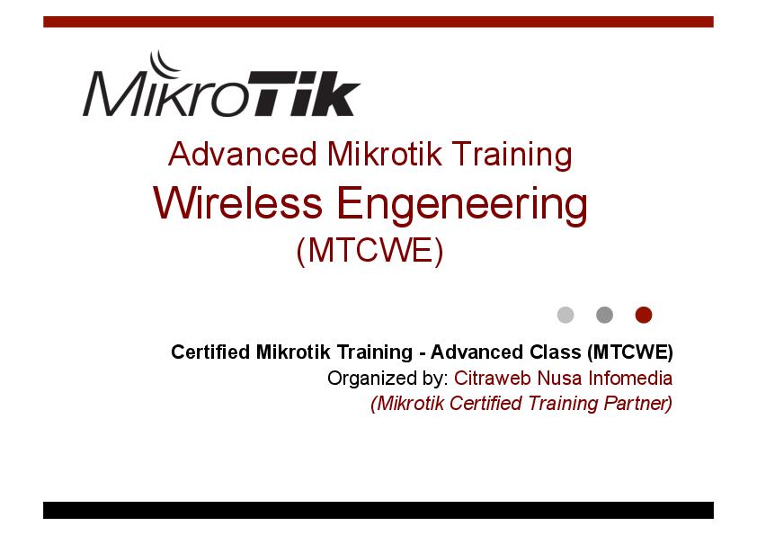 PDF) Advanced Mikrotik Training | tulus wahyuno - Academia edu