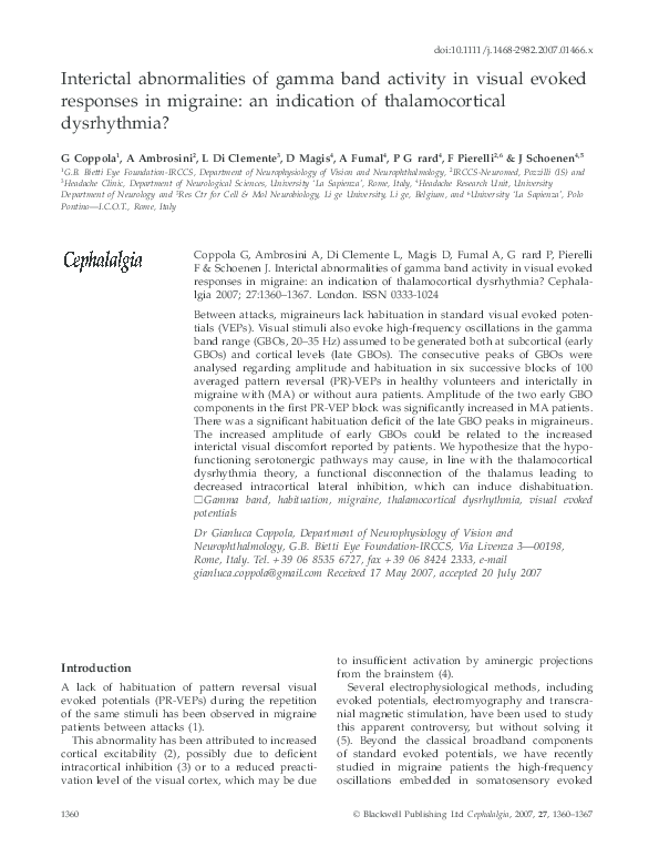 Gamma Werkschoenen.Pdf Interictal Abnormalities Of Gamma Band Activity In Visual