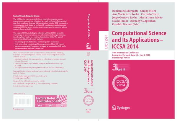 PDF) Computational Science and Its Applications – ICCSA 2014