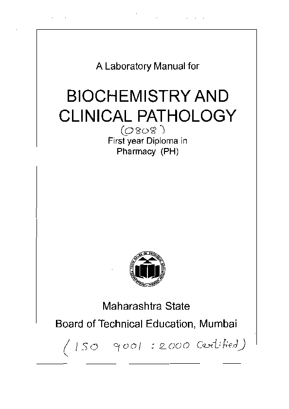 PDF) A Laboratory Manual for BIOCHEMISTRY AND CLINICAL