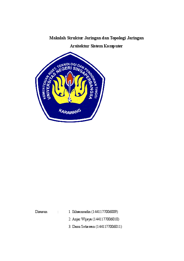 Doc Makalah Struktur Jaringan Dan Topologi Jaringan Anjar Wijaya Academia Edu