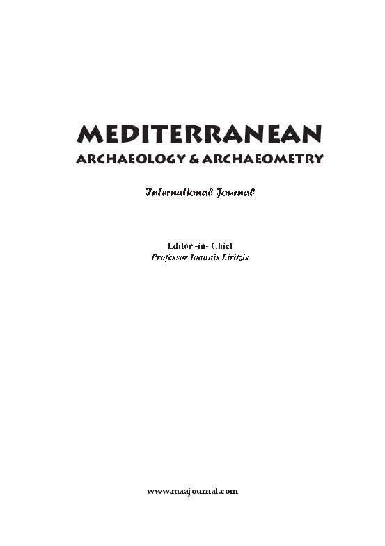 PDF) MEDITERRANEAN ARCHAEOLOGY & ARCHAEOMETRY 20016 VOL 16