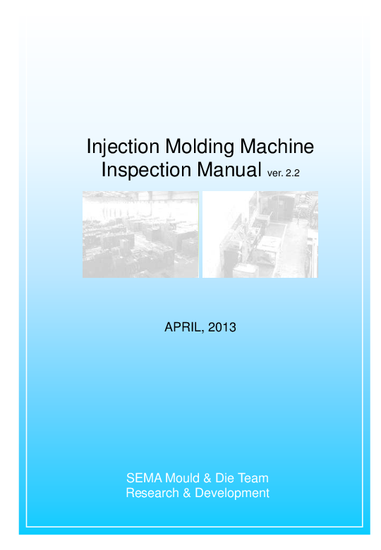 PDF) Injection Molding Machine Inspection Manual | halim