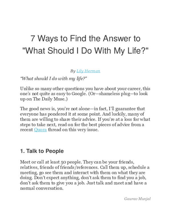 DOC) 7 Ways to Find the Answer to