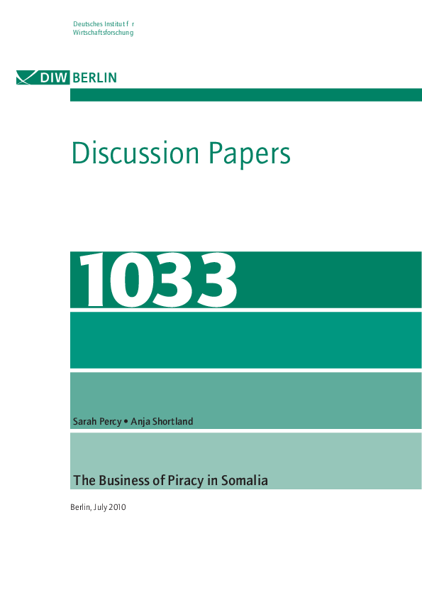 PDF) The Business of Piracy in Somalia | Sarah Percy