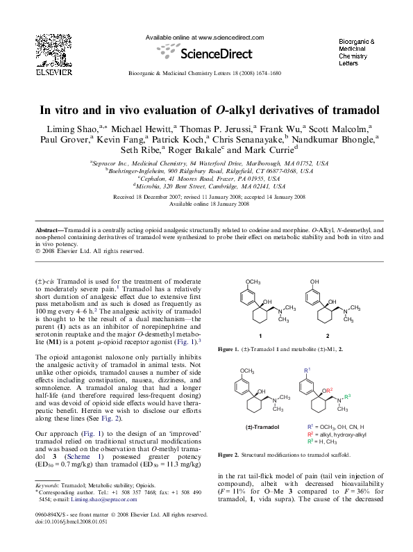 PDF) In vitro and in vivo evaluation of O-alkyl derivatives of