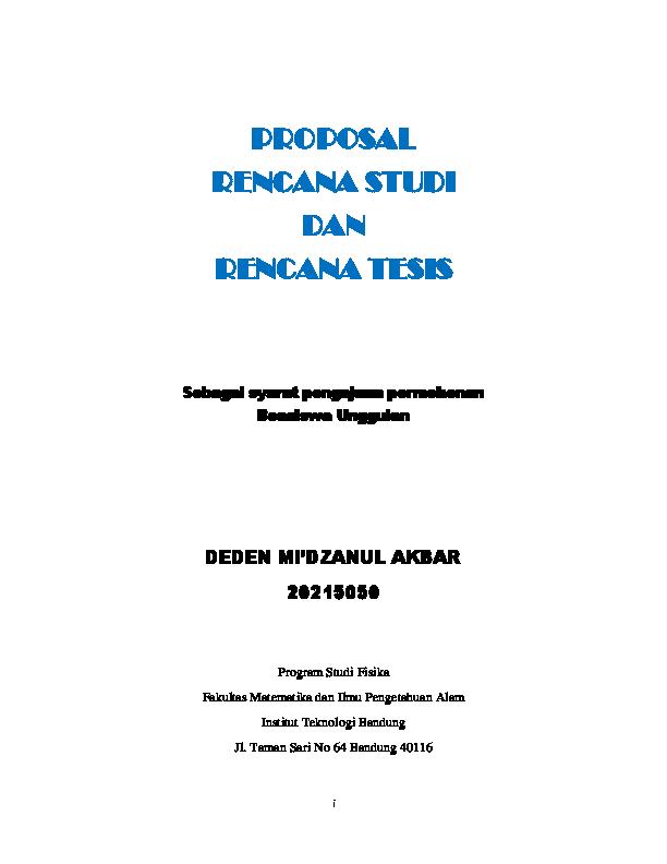 Pdf Proposal Penelitian Dan Rencana Studi Deden Mi Dzanul Akbar Academia Edu