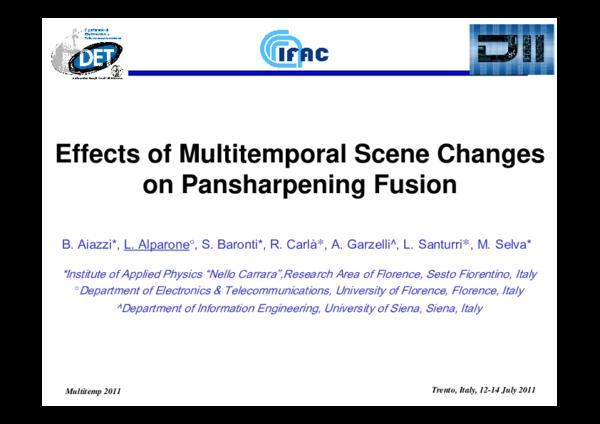 PDF) Effects of multitemporal scene changes on pansharpening