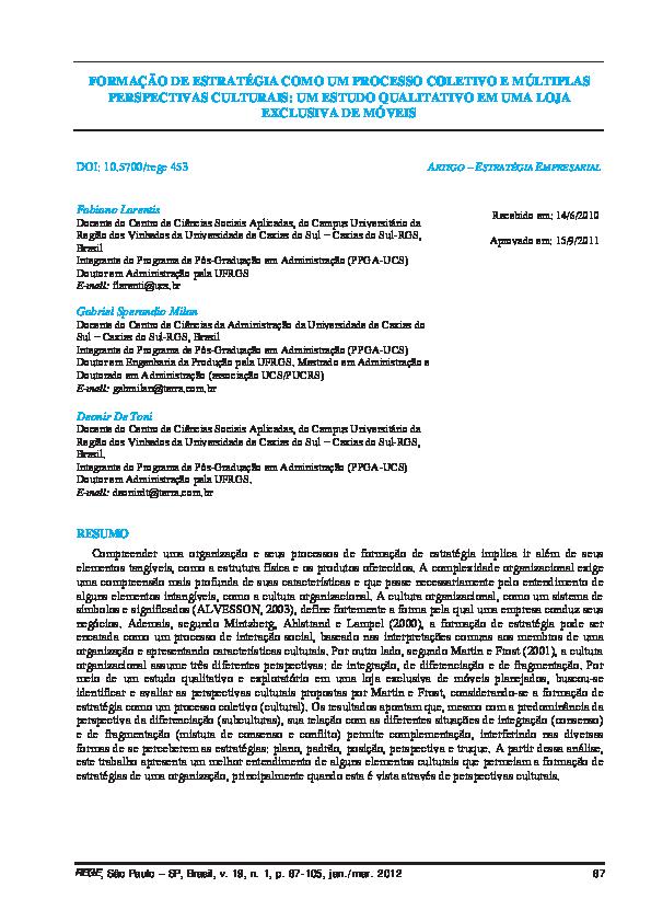 02833f399 PDF) Formação de estratégia como um processo coletivo e múltiplas ...
