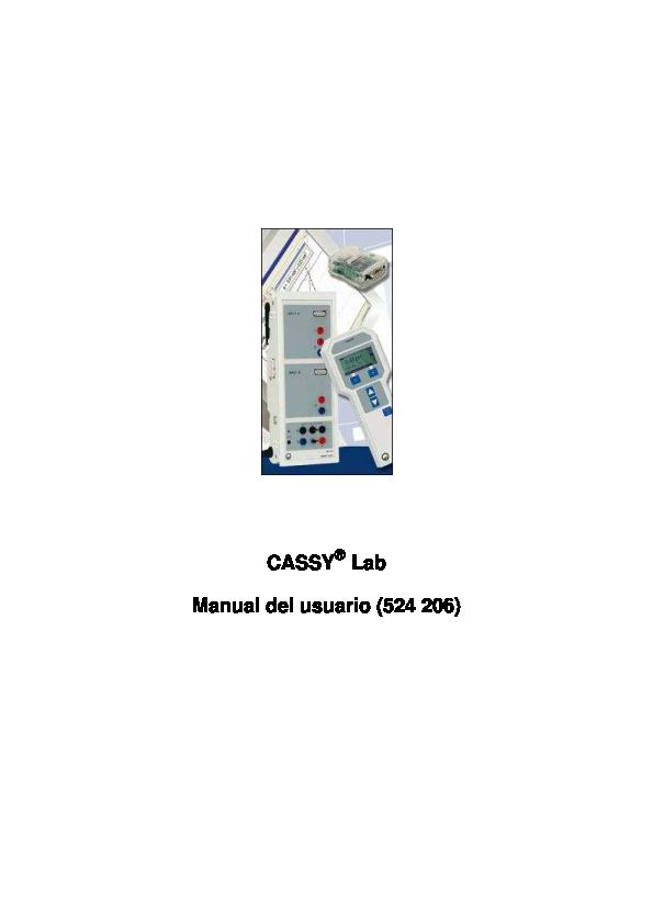(PDF) CASSY ® Lab Manual del usuario (524 206