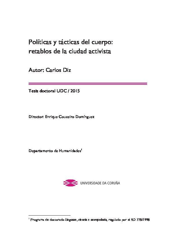 Políticas y tácticas del cuerpo  retablos de la ciudad activista.pdf ... b77af23d154