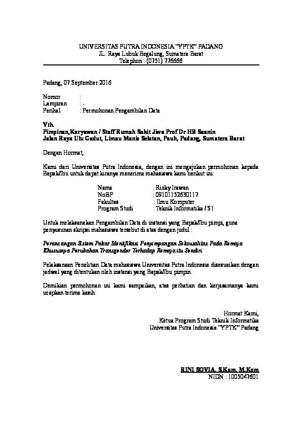 Doc Contoh Surat Permohonan Penelitian Skripsi Rizky
