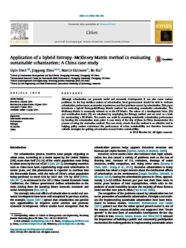PDF) Application of a hybrid Entropy–McKinsey Matrix method