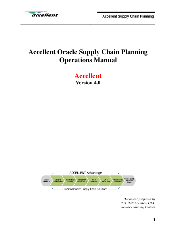 PDF) Accellent Supply Chain Planning Accellent Oracle Supply