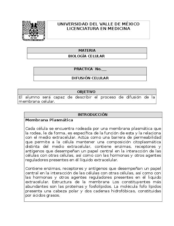 Doc Práctica De Difusión Celular Areli Calderón Academiaedu