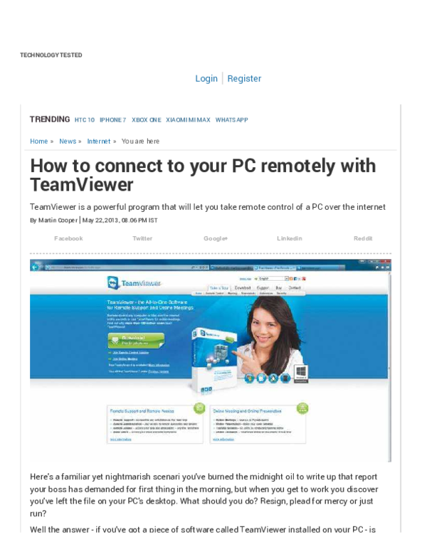 PDF) How to connect to your PC remotely with TeamViewer