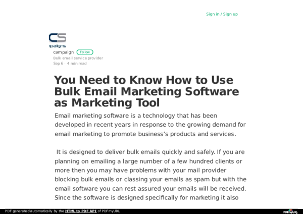 PDF) You Need to Know How to Use Bulk Email Marketing