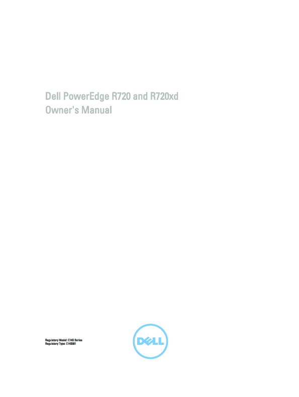 PDF) Dell PowerEdge R720 and R720xd Owner's Manual