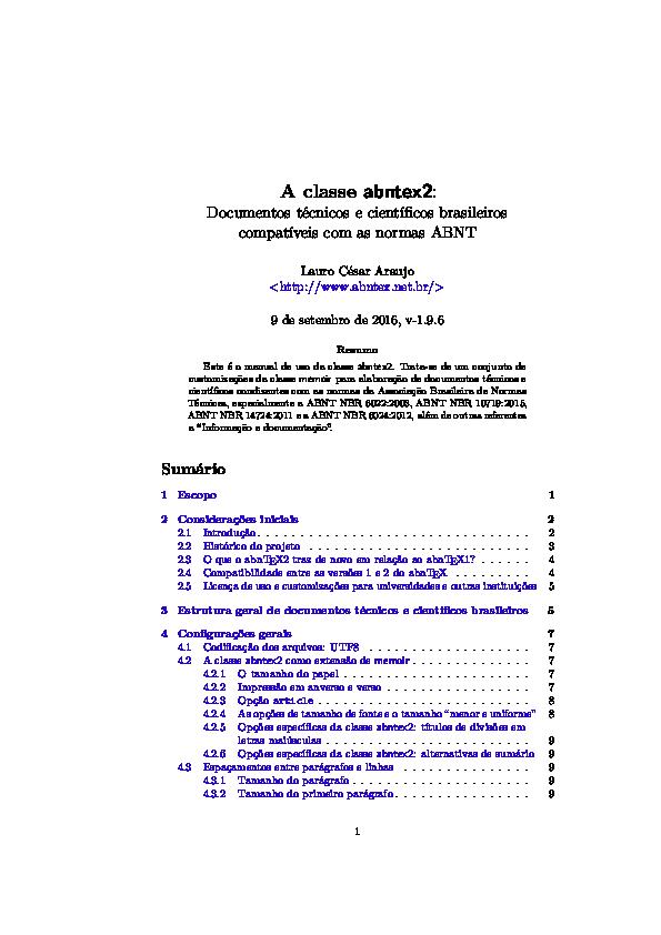PDF) A classe abntex2   Fabio Licht - Academia edu