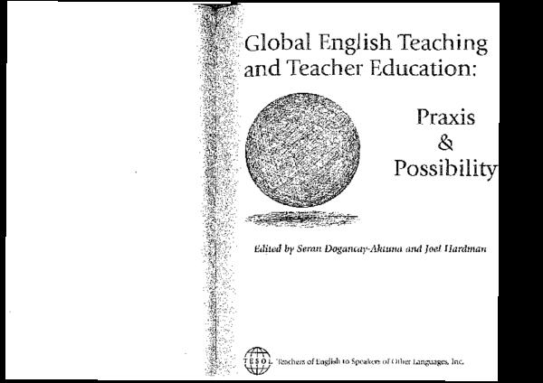 (PDF) English language teachers and teacher education in