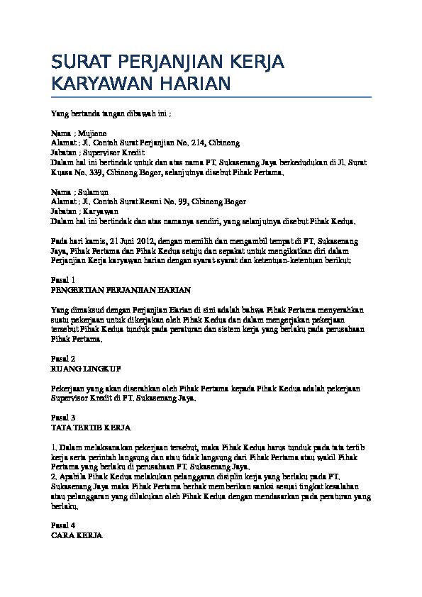 doc surat perjanjian kerja karya wan harian vera ayu