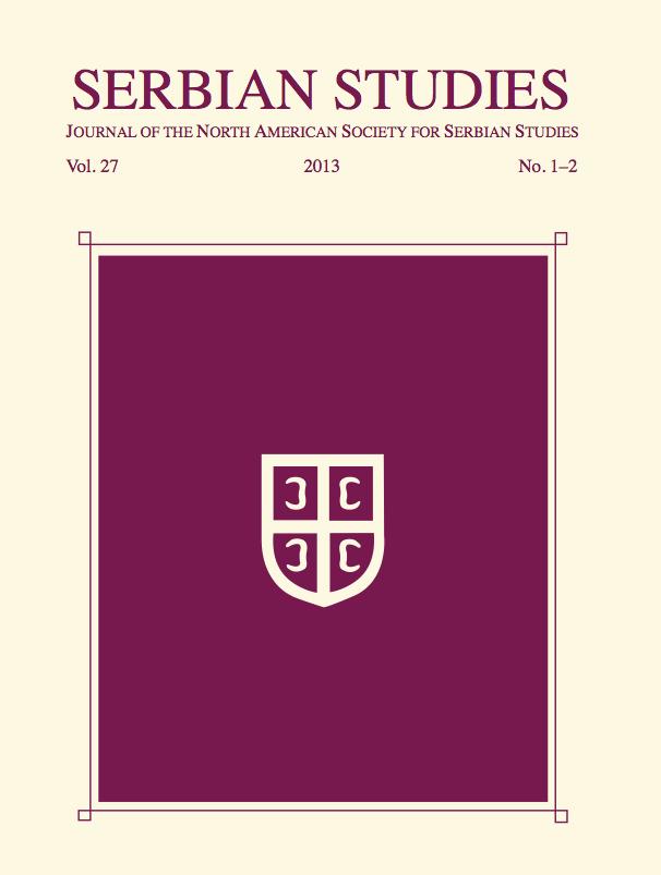PDF) SS_Vol 27_2013_No 1 & 2 [2016].pdf   Serbian Studies, Sibelan ...