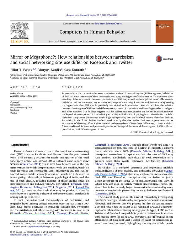 PDF) Mirror or Megaphone?: How relationships between
