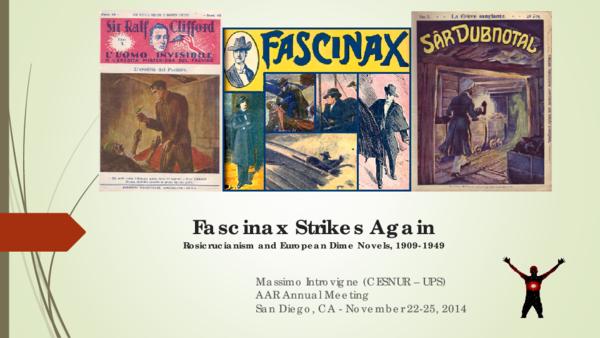 PDF) Fascinax Strikes Again Rosicrucianism and European Dime Novels