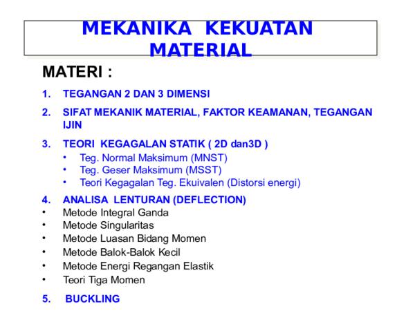 Ebook Mekanika Kekuatan Material