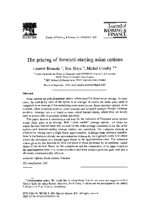Something asian option pdf