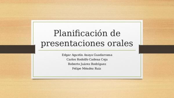 Presentaciones orales Ti 14 sept | Edgar Anaya - Academia edu