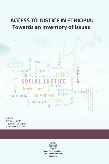 PDF) Access to Justice in Ethiopia: Towards An Inventory of