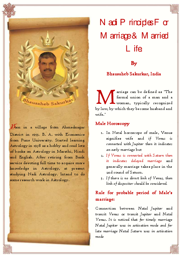 PDF) Nadi Principlesfor Marriageand Married Life BW | Ashutosh