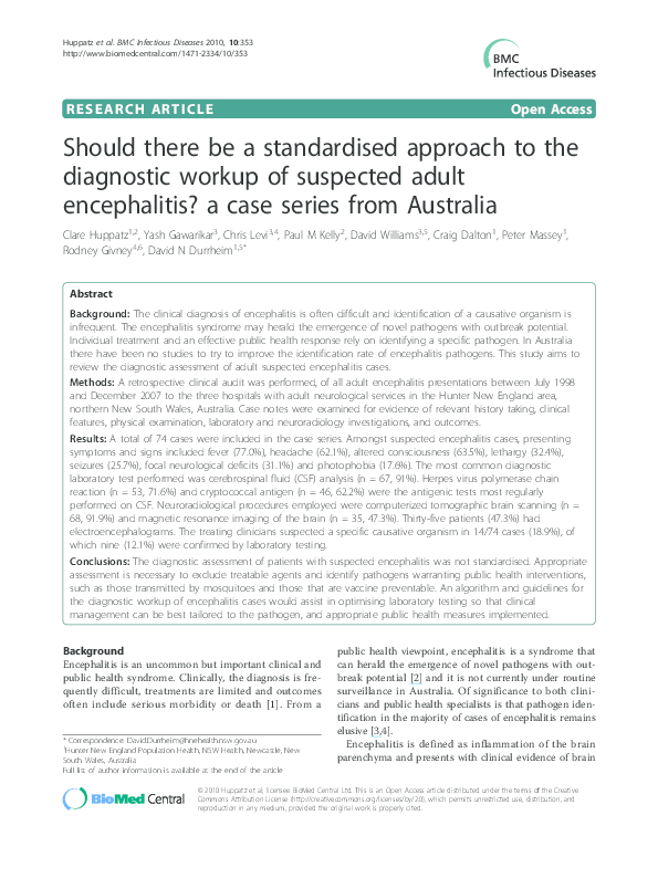PDF) Should there be a standardised approach to the