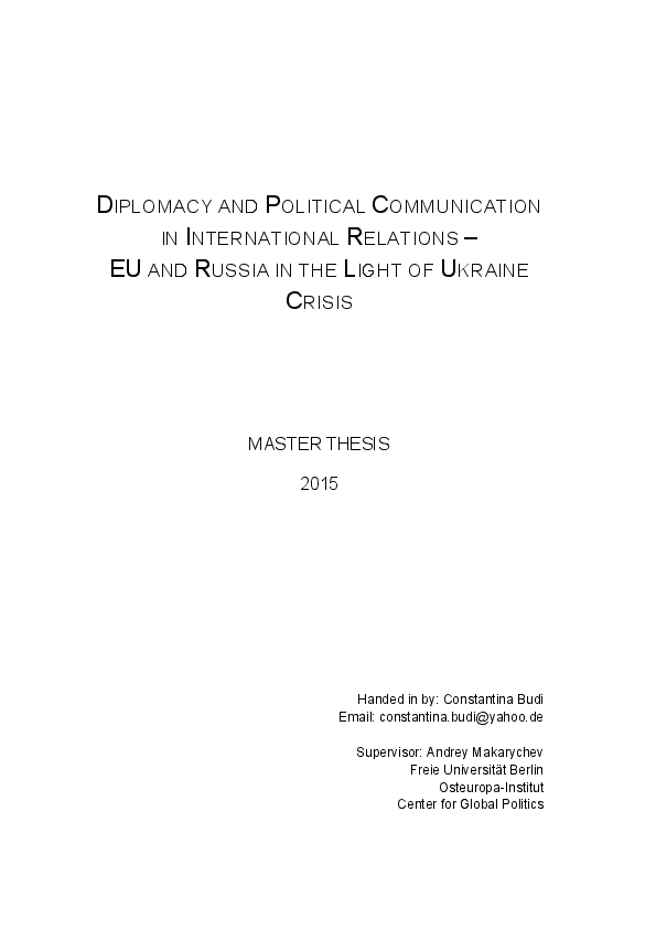 Business government relations master thesis