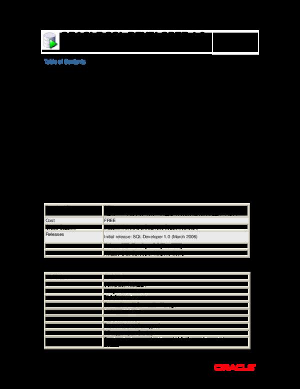 PDF) ORACLE SQL DEVELOPER 1 2 | Surya Prakash - Academia edu