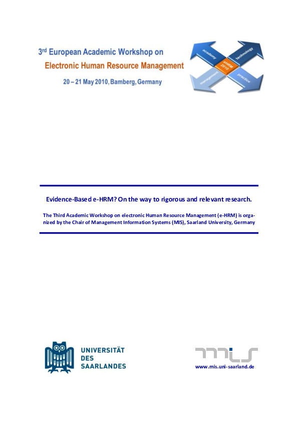 PDF) The strategic value of e-HRM: results from an