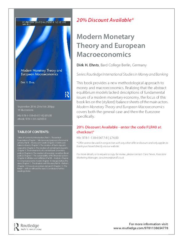 PDF) Modern Monetary Theory and European Macroeconomics | Dirk H
