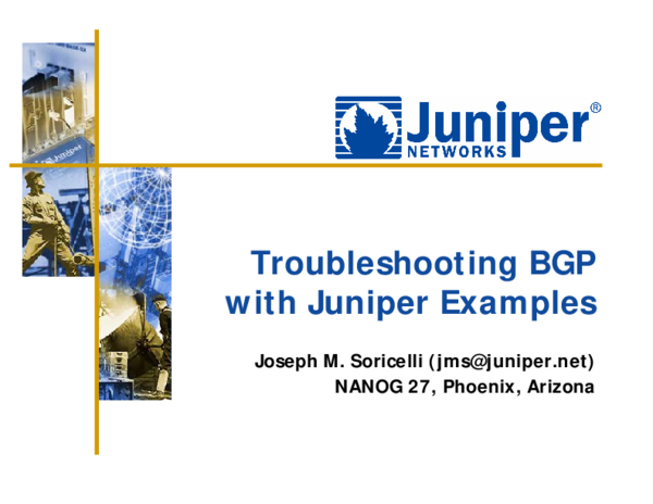 PDF) Troubleshooting BGP with Juniper Examples | Đai Gâu