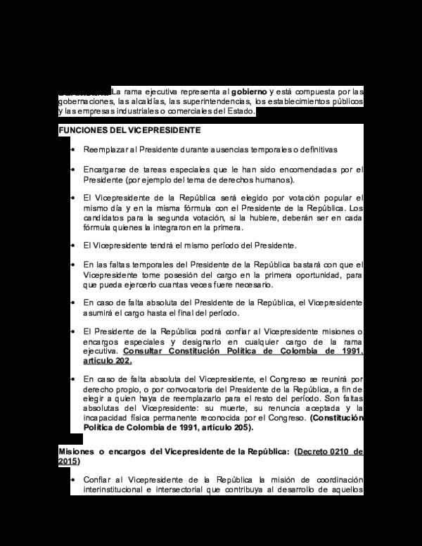 Doc Estructura Del Estado Colombiano Orden Nacional Rama