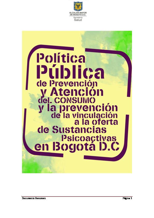 Pdf 06012016 Politica Publica De Prevencion Y Atencion