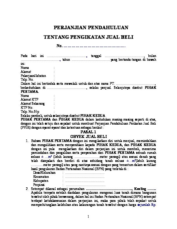 Doc Perjanjian Pengikatan Jual Beli Konsumen Dengan