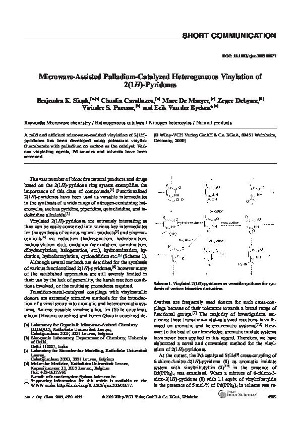 odebrać delikatne kolory sprzedaż usa online PDF) Microwave-Assisted Palladium-Catalyzed Heterogeneous ...