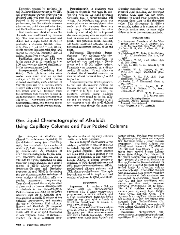 PDF) Gas Liquid Chromatography of Alkaloids Using Capillary