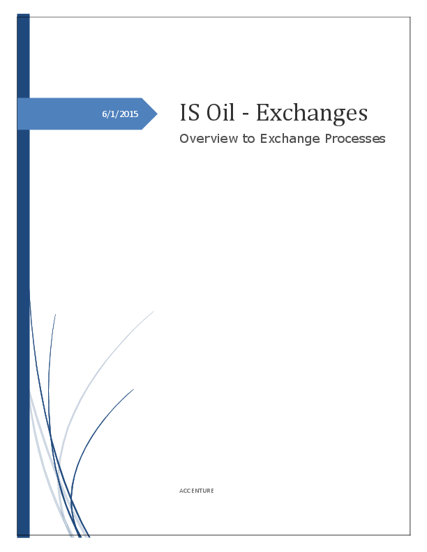 PDF) IS Oil -Exchanges Overview to Exchange Processes