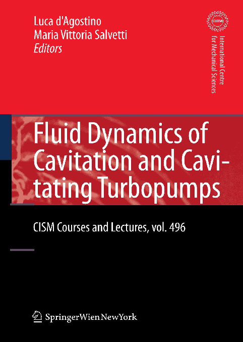 PDF) BOOK FLUID DYNAMICS OF CAVITATION AND CAVITATING TURBOPUMPS ...