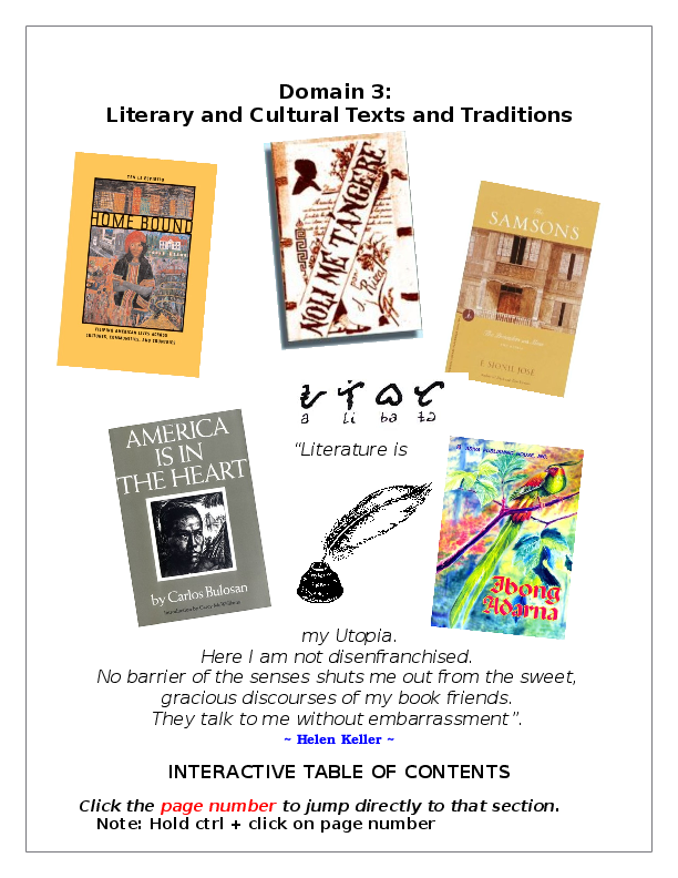 DOC) CSET Filipino Review Literary and Cultural Texts and